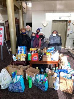 The blessings keep pouring in!  We humbly thank the members of the Savvy Sewers, a wonderful group of retired educators who saw fit to organize a donation drive for BTS to provide our clients with cleaning supplies. We are so grateful!