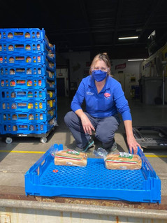 Sue Anderson, Manager at Freihofer's Bakery has committed to regularly supply us with bread for our clients. Please stop by their location at 900 Jefferson Road bldg #4 and help me thank them on behalf of our 225 families who will receive a loaf each week.