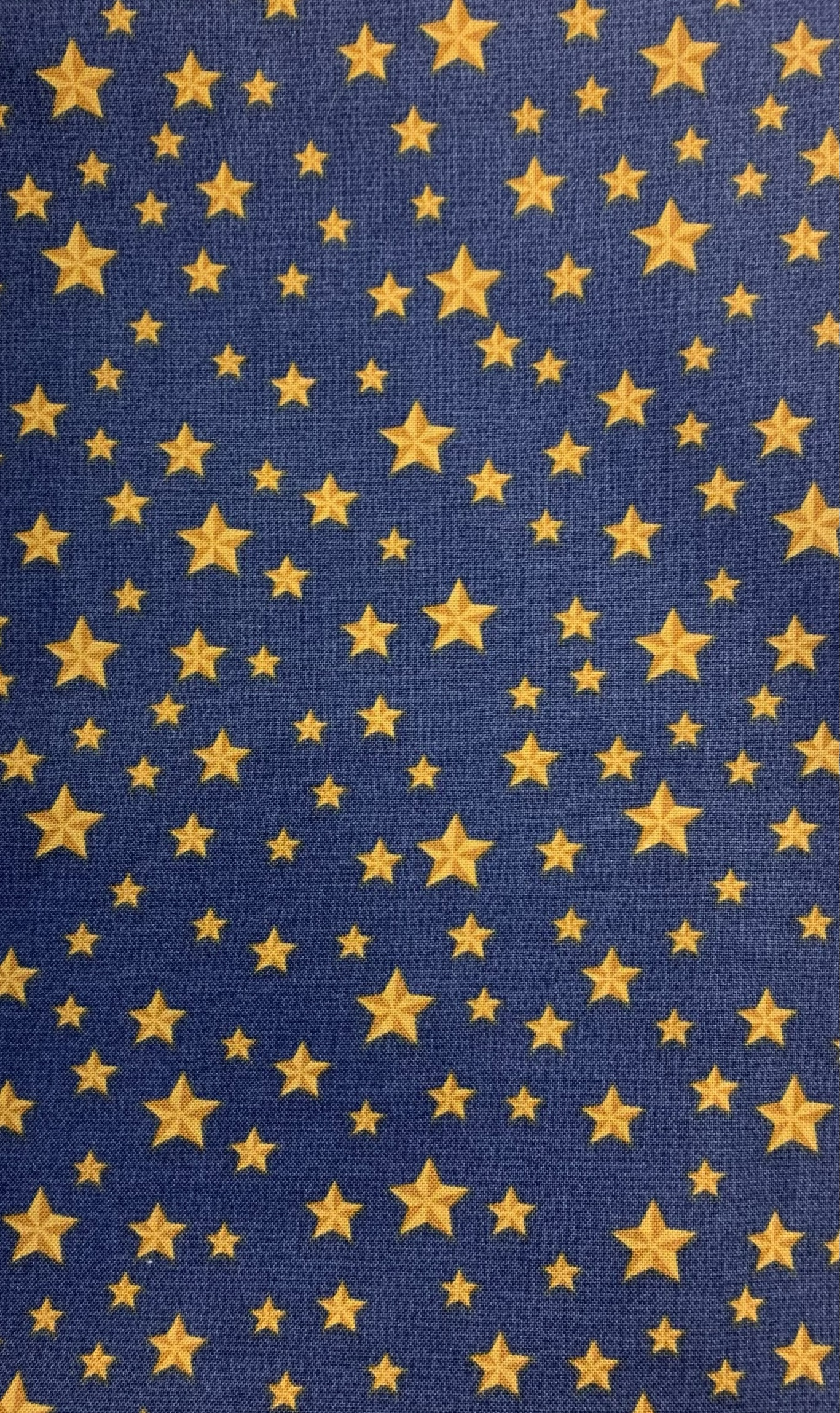 Blue with gold stars
