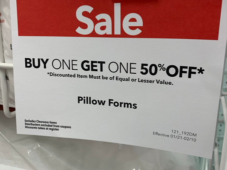 Pillows are on sale!