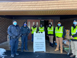 Thank you Officers Vincent & Kelly along with your fantastic crew of MCC Criminal Justice Interns for helpings launch our drive-thru Food Pantry distribution. We couldn't have done it without you. Thanks for agreeing to coming back next week. You are now officially members of the BTS Crew!