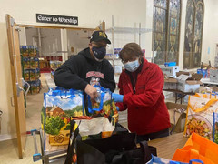 I'm determined to let some very special people know I appreciated all they did to make our Thanksgiving Basket Distribution a success, starting with Norm N Shirley Strothers and Theresa Carter.