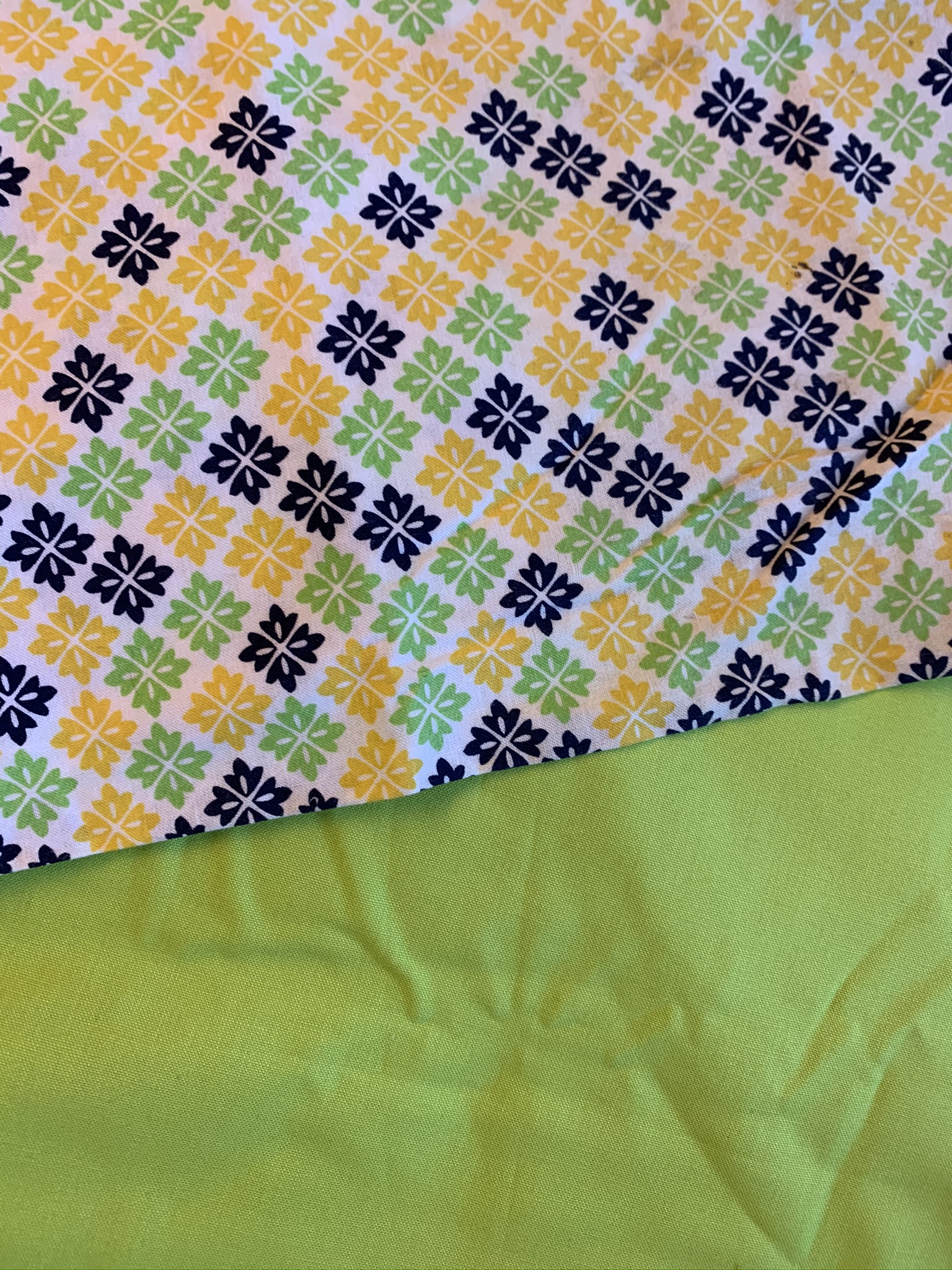 Lime/Blue/Yellow Pattern