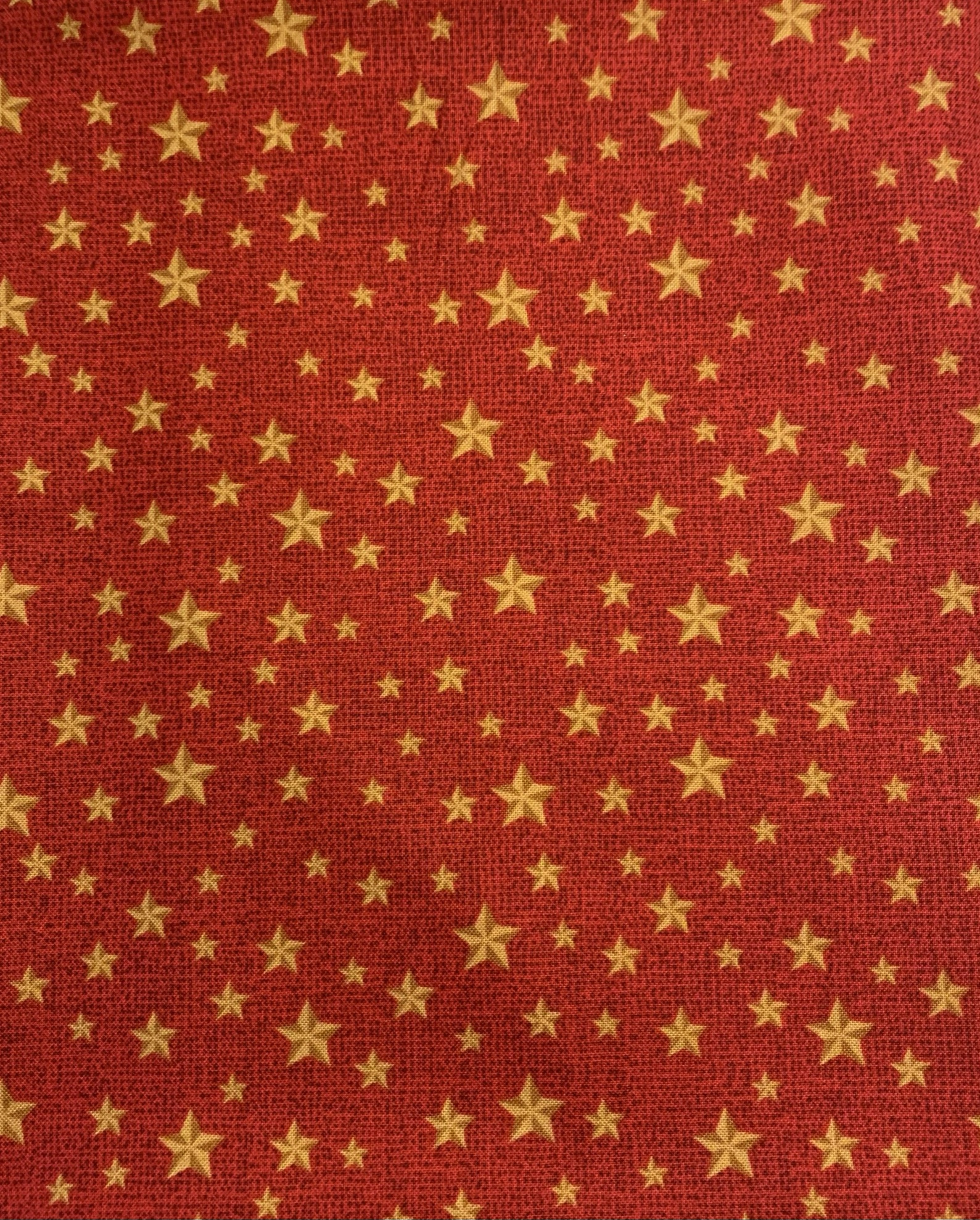 Red with gold stars