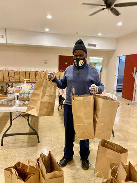 Everyone's job is important. Robert Wilson comes ready every week to make sure we have enough bags and they are double so that they are strong enough to handle all of the delicious food we provide for our clients. Thanks, Robert!  We appreciate you.