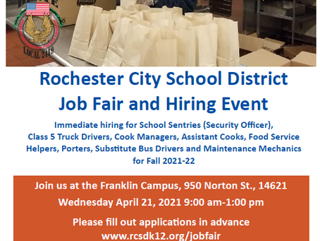 Rochester City School District Job Fair and Hiring Event