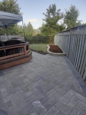 Interlock patio installation