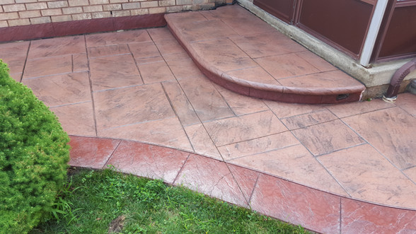 Stamped concrete - High Gloss