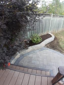 Interlock Patio and retaining wall garden beds