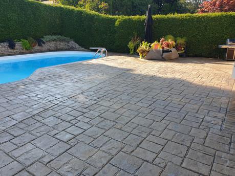 25 year old Patterned Concrete Restoration