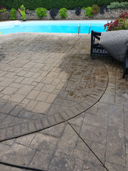25 Year old Concrete after pressure washing