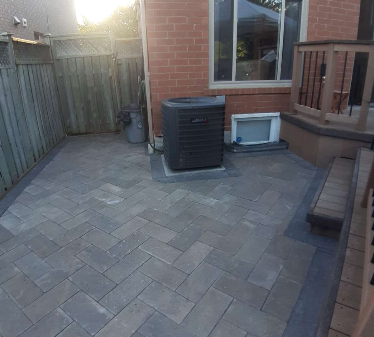 Interlock patio installation