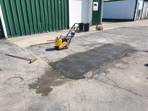 hot asphalt repair