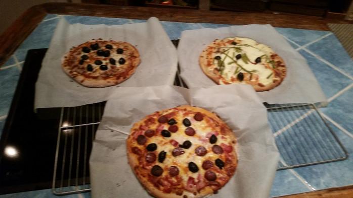 Pâte à pizza au basilic