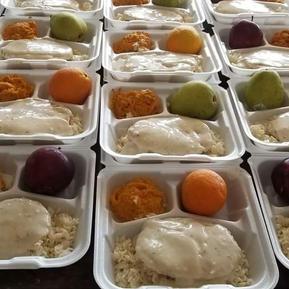 Meals being prepared