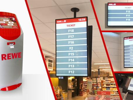 "Kundenaufrufsystem bei ""REWE Rudel"" in Bamberg"