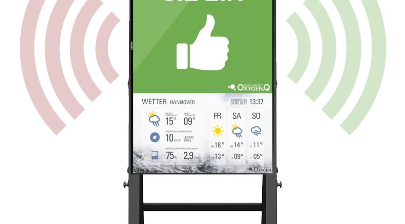 """Digitale Besucherampel 43"""" Pro (optional mit Kundenzähler Sensor)"""