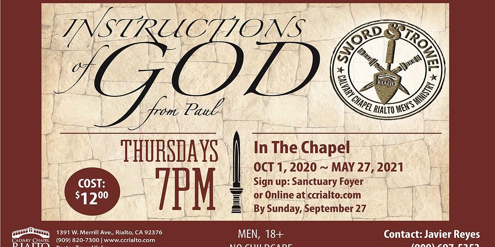 Men's Bible Study: Instruction of God in Paul's Letters