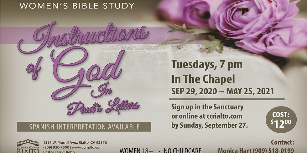 Women's Bible Study/Estudio Biblico para Mujeres