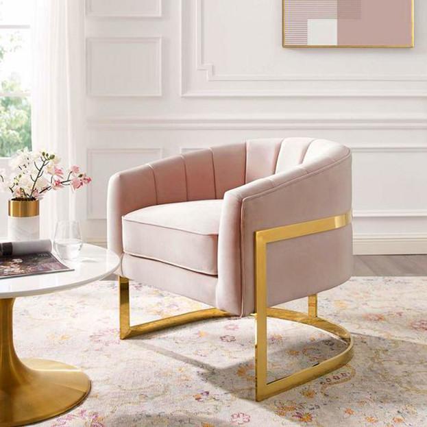 Pink Living Room Detail