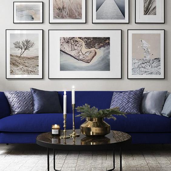 blue Living room sofa Chiocca Design .jp