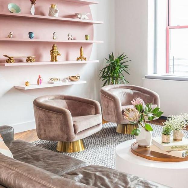 Pink Living Room Inspiration