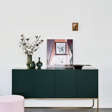 Green Living Room Detail