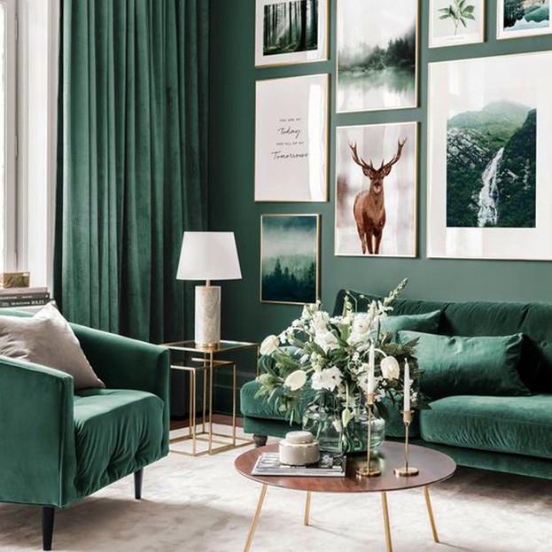 Green Living Room Inspiration