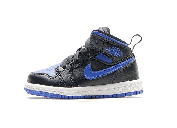 JORDAN 1 MID (BLACK/BLUE)