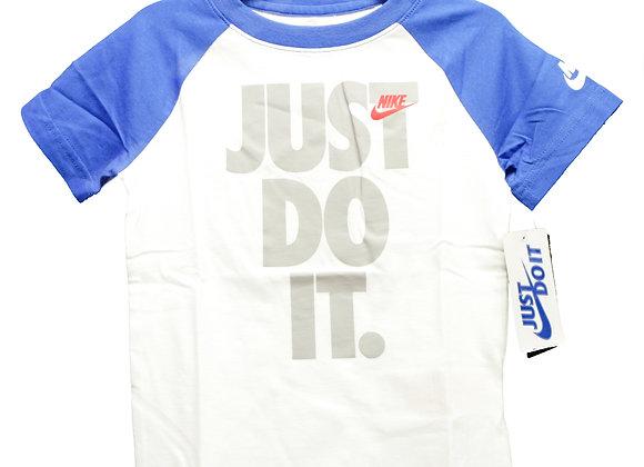 NIKE NSW JDI S/S RAGRAN Tシャツ (WT/BL) (3-4歳)