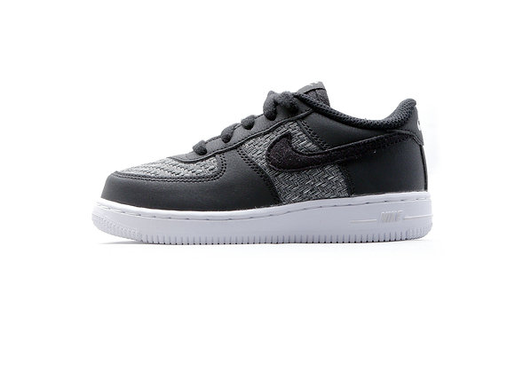 Nike Force 1 LOW LV8 Woven (BK/GY)【15cm】