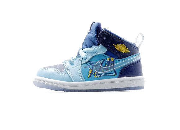"Jordan 1 Mid ""FLY"" TD  (BLUE VOID)【13cm】"