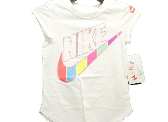 NIKE GIRLS RETRO STRIPE Tシャツ (WT/PK) (3-4歳)