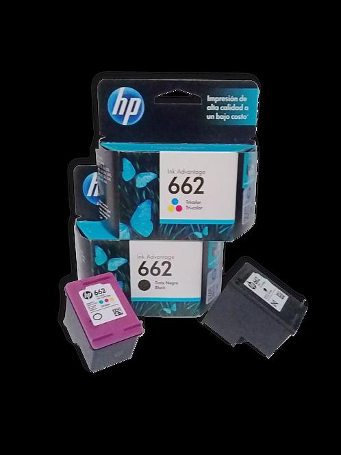 CARTUCHOS HP 662XL ALTO RENDIMIENTO, GENERICO, NEGRO Y TRICOLOR
