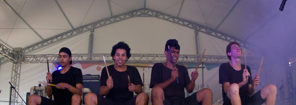 Grupo Embatucadores na Festa da Cultura Brasileira de Barueri -