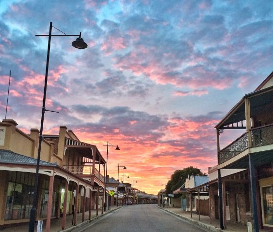 Sunset in Gulgong