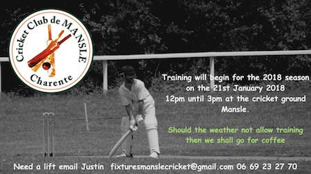 Training Cricket France