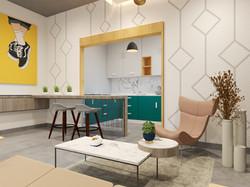 2BHK-Living Room