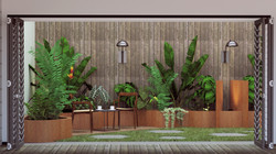 Courton steel planters with Wooden Panelling