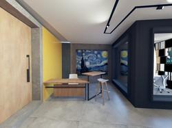 Small Terrace Office Design