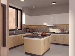 Bungalow-Kitchen with island