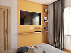 2BHK Interior-Master Bedroom