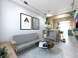 2BHK Interior-Living Area
