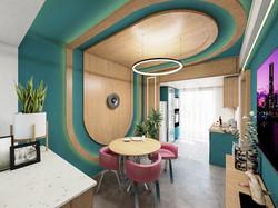 2BHK Interior-Dining Area