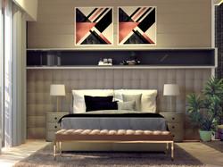 Luxury Room Interior-Bed View
