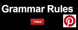 grammar rules pinterest