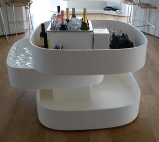 Champanera con diseño original y funcional para restaurante de Dani García