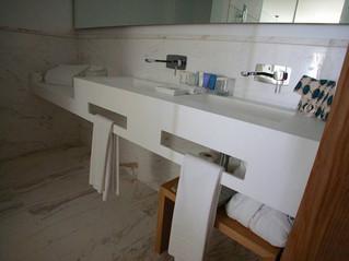 Encimeras de baño en Krion. Tendencia y modernidad