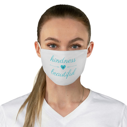 "Turquoise ""Kindness is Beautiful"" Fabric Face Mask"