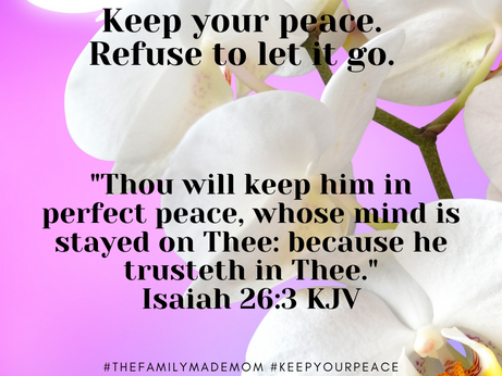 The Importance of Your Peace